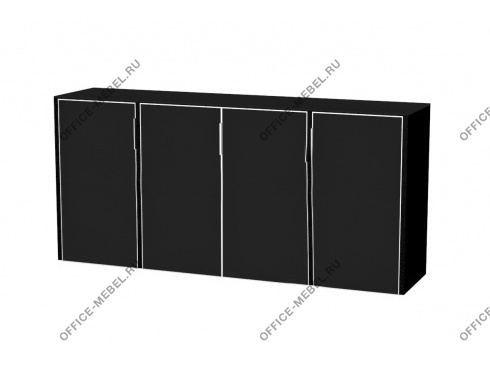 Шкаф низкий ELCRE027 BLACK на Office-mebel.ru