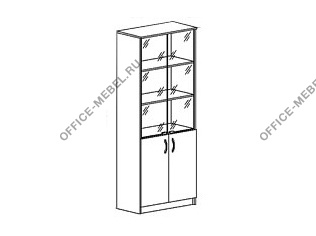 шкаф для документов со стеклом 09517