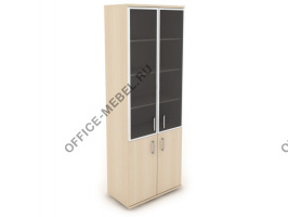 Шкаф со стеклом Н-028 на Office-mebel.ru